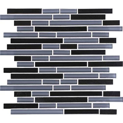 Daltile Granite Radiance Random Mosaic (PTS) Absolute Black Blend Tile & Stone