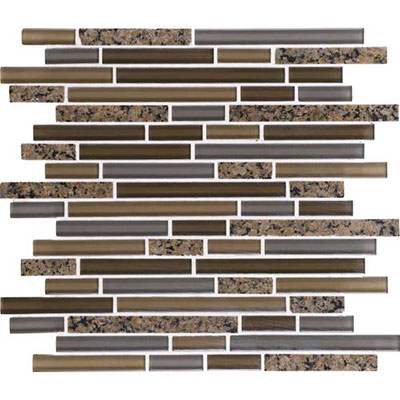 Daltile Granite Radiance Random Mosaic (PTS) Tropical Brown Blend Tile & Stone
