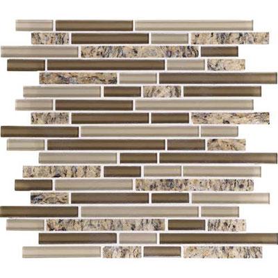 Daltile Granite Radiance Random Mosaic (PTS) Santa Ceclia Blend Tile & Stone