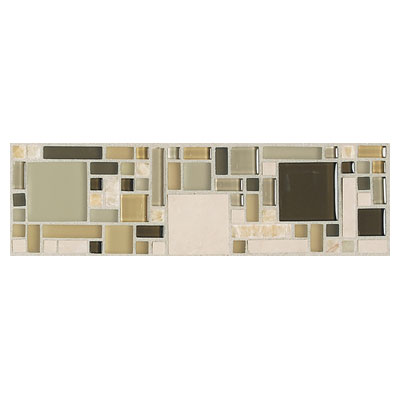 Daltile Innova Ceramic Borders Magic Pebble Beach Border Tile & Stone
