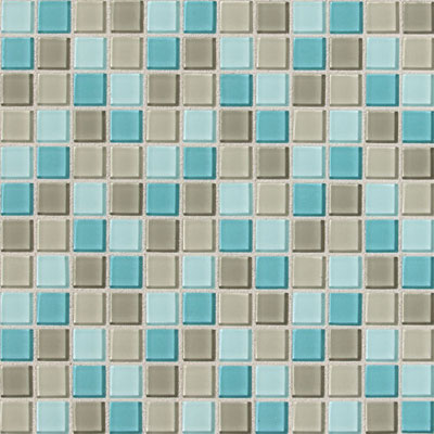 Daltile Isis Glass Mosaic 1 x 1 Blends Whisper Blend Tile & Stone
