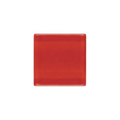 Daltile Isis Glass Mosaic 1 x 1 Mesh Mounted Candy Apple Tile & Stone