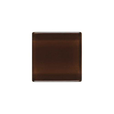 Daltile Isis Glass Mosaic 1 x 1 Mesh Mounted Chocolate Sundae Tile & Stone