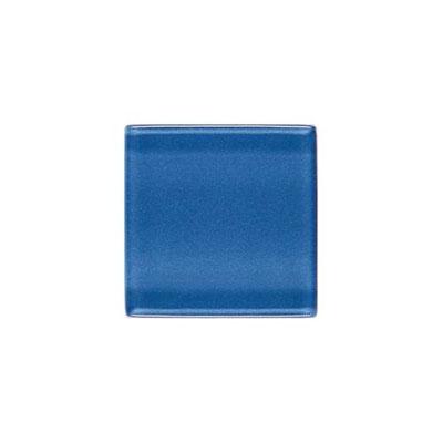 Daltile Isis Glass Mosaic 1 x 1 Mesh Mounted Polo Blue Tile & Stone