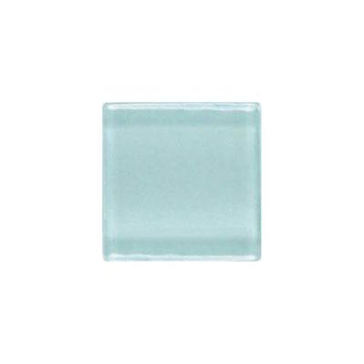 Daltile Isis Glass Mosaic 1 x 1 Mesh Mounted Whisper Blue Tile & Stone