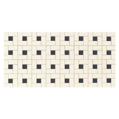 Daltile Keystones Blends Black Dot Windmill Mosaic Biscuit Tile & Stone