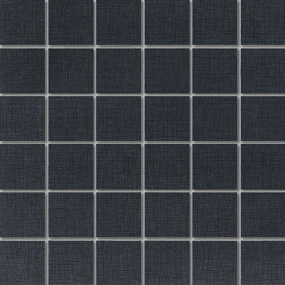 Daltile Kimona Silk Mosaic 2 x 2 Panda Black Tile & Stone