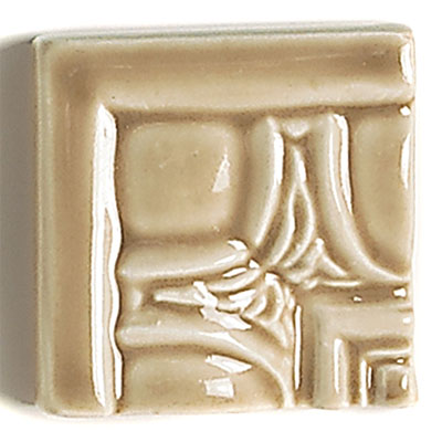 Daltile La Marque Moldings Camel Egg & Dart Corner 2 1/2 x 2 1/2 Tile & Stone