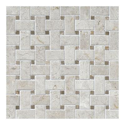 Daltile Limestone Mosaics Unique Shapes Arctic Gray Basketweave Tile & Stone