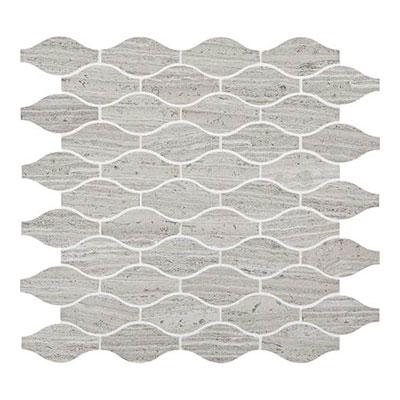 Daltile Limestone Mosaics Unique Shapes Chenille White Marquise Tile & Stone