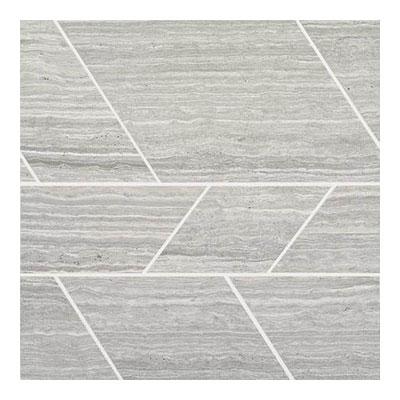 Daltile Limestone Mosaics Unique Shapes Chenille White Modern Tile & Stone