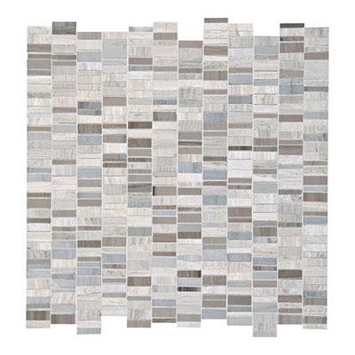 Daltile Limestone Mosaics Unique Shapes Chenille White Silver Screen Tile & Stone