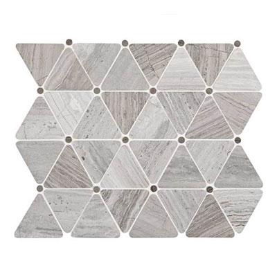 Daltile Limestone Mosaics Unique Shapes Chenille White Triangle Tile & Stone