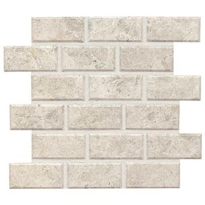 Daltile Limestone Beveled Mosaic Arctic Gray Honed Tile & Stone