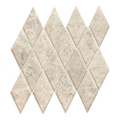 Daltile Limestone Harlequin Beveled Mosaic Arctic Gray Tile & Stone
