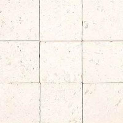 Daltile Limestone 4 x 4 Blavet Blanc Tumbled Tile & Stone