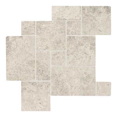 Daltile Limestone Mini Versailles Mosaic Arctic Gray Tumbled Tile & Stone