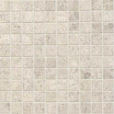 Daltile Limestone Mosaic 1 x 1 - Honed or Tumbled Honed Arctic Gray Tile & Stone