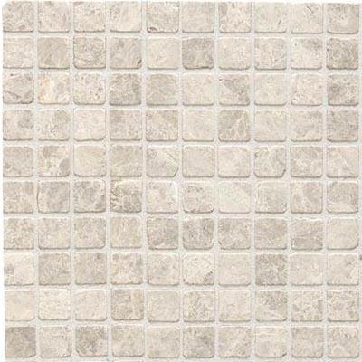 Daltile Limestone Mosaic 1 x 1 - Honed or Tumbled Tumbled Arctic Gray Tile & Stone