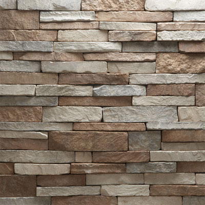 Daltile Manuf. Stone - Mesa Ledge Stack (Box) Peppercorn Blend Tile & Stone