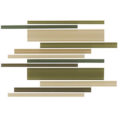 Daltile Maracas Glass Mosaics - Gloss Interlocking Rain Forest Tile & Stone