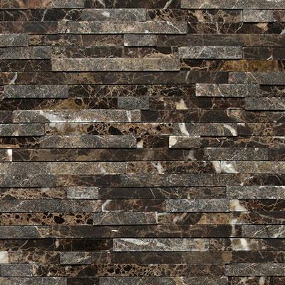 Daltile Marble 3/8 x Random Mosaic Emperador Dark Tile & Stone
