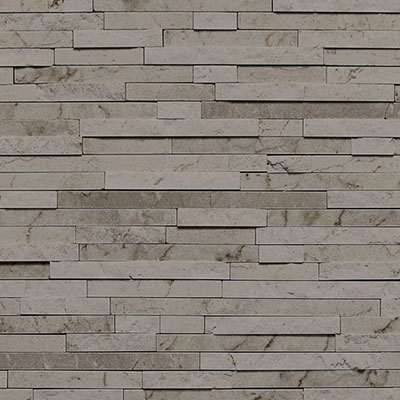 Daltile Marble 3/8 x Random Mosaic Silver Screen Tile & Stone