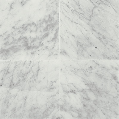 Daltile Marble 12 x 12 Honed Carrara White Honed Tile & Stone
