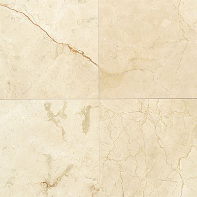 Daltile Marble 12 x 12 Honed Crema Marfil Classico Honed Tile & Stone