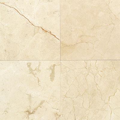 Daltile Marble 12 x 12 Polished Crema Marfil Classico Polished Tile & Stone