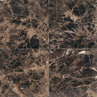 Daltile Marble 12 x 12 Polished Emperador Dark Tile & Stone