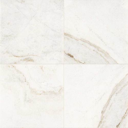 Daltile Marble 18 x 18 Honed Daphne White Honed Tile & Stone