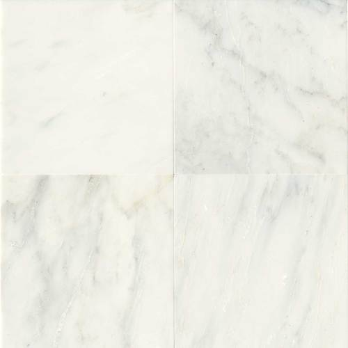 Daltile Marble 18 x 18 Honed First Snow Elegance Honed Tile & Stone