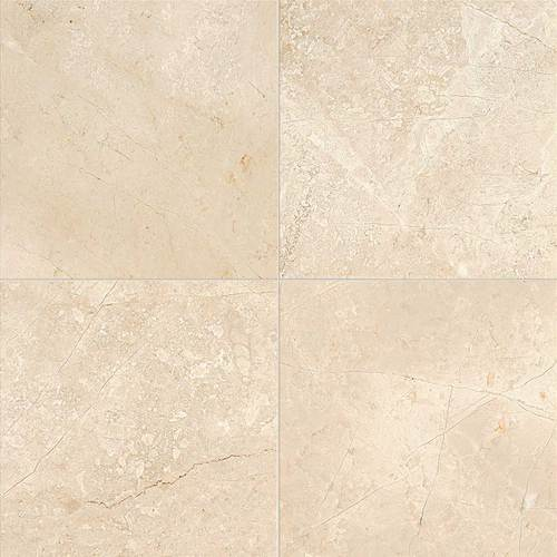 Daltile Marble 18 x 18 Honed Phaedra Cream Honed Tile & Stone