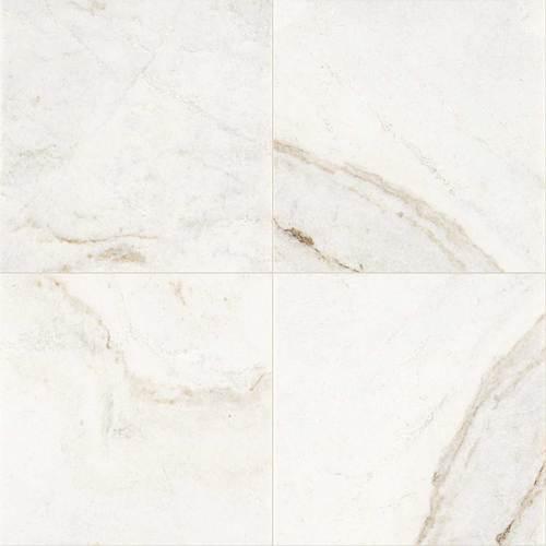 Daltile Marble 18 x 18 Polished Daphne White Polished Tile & Stone