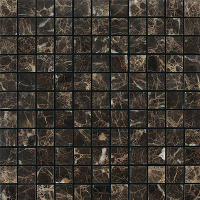 Daltile Marble 1 x 1 Mosaic Emperador Dark Honed Tile & Stone