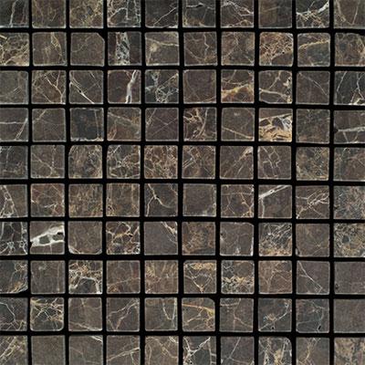 Daltile Marble 1 x 1 Mosaic Emperador Dark Tumbled Tile & Stone