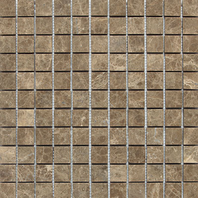Daltile Marble 1 x 1 Mosaic Emperador Light Classic Honed Tile & Stone