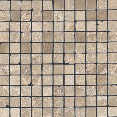 Daltile Marble 1 x 1 Mosaic Emperador Light Classic Tumbled Tile & Stone