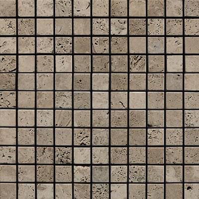 Daltile Marble 1 x 1 Mosaic Silver Screen Tumbled Tile & Stone