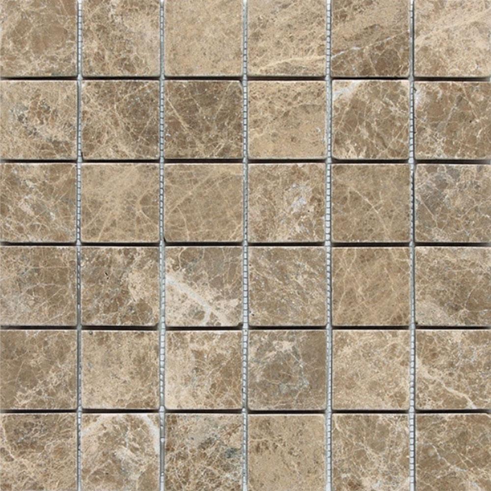 Daltile Marble 2 x 2 Mosaic Emperador Light Classic Tumbled Tile & Stone