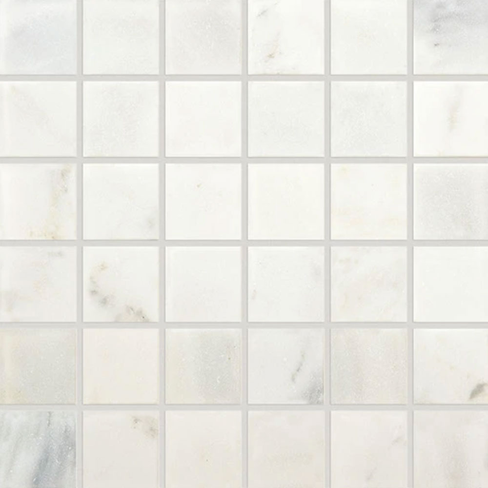 Daltile Marble 2 x 2 Mosaic First Snow Elegance Tumbled Tile & Stone