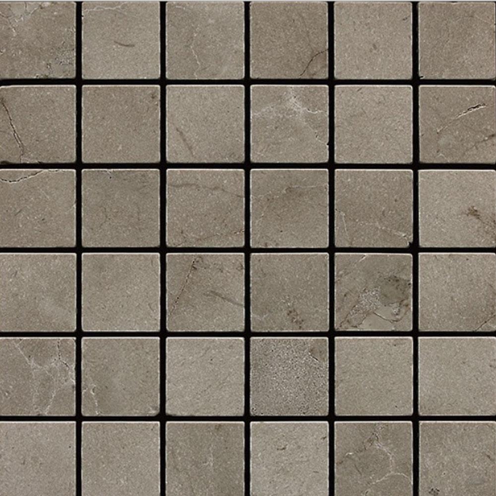 Daltile Marble 2 x 2 Mosaic Silver Screen Tumbled Tile & Stone