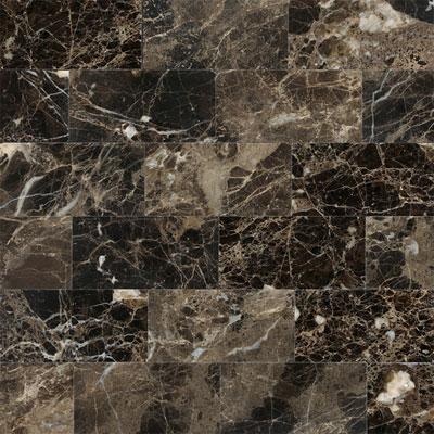 Daltile Marble 3 x 6 (All the other Marbles) Emperador Dark Polished Tile & Stone