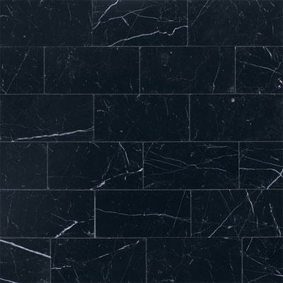 Daltile Marble 3 x 6 (All the other Marbles) Nouveau Nero Honed Tile & Stone
