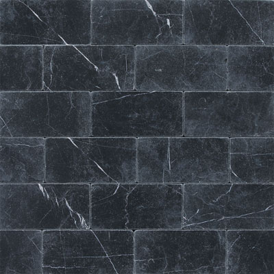 Daltile Marble 3 x 6 (All the other Marbles) Nouveau Nero Tumbled Tile & Stone