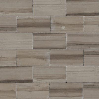 Daltile Marble 3 x 6 (All the other Marbles) Silver Screen Vein Cut Tumbled Tile & Stone