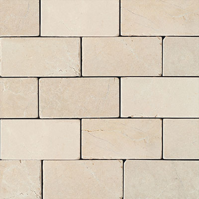 Daltile Marble 3 x 6 Crema Marfil Classico Tumbled Tile & Stone