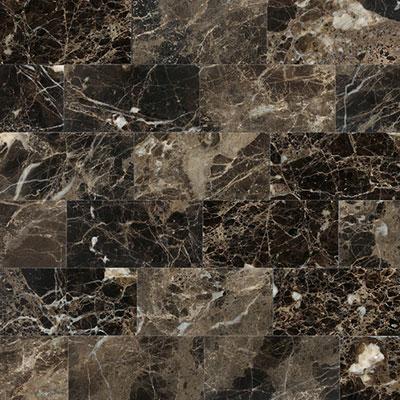 Daltile Marble 3 x 6 Emperador Dark Polished Tile & Stone
