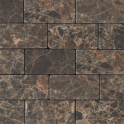 Daltile Marble 3 x 6 Emperador Dark Tumbled Tile & Stone